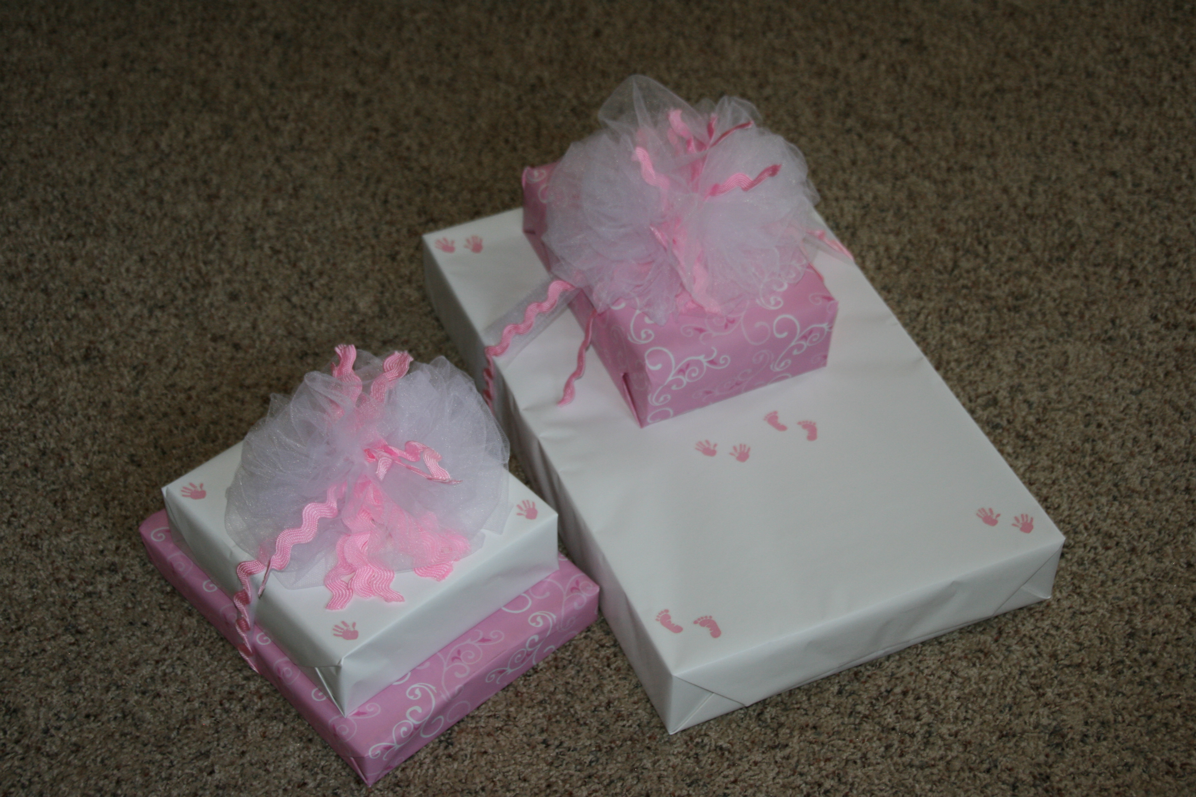 Sweet baby girl wrapped gifts… | Weezy's Wonderland